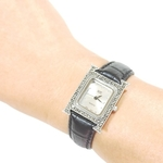 HW225 Slim Calf Leather Square Dial Watch