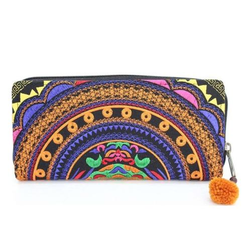 Embroidery Wallet *Orange