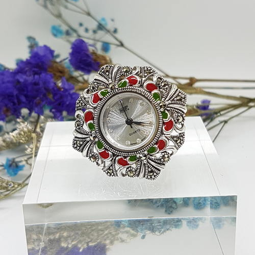 Ring watch Enamel