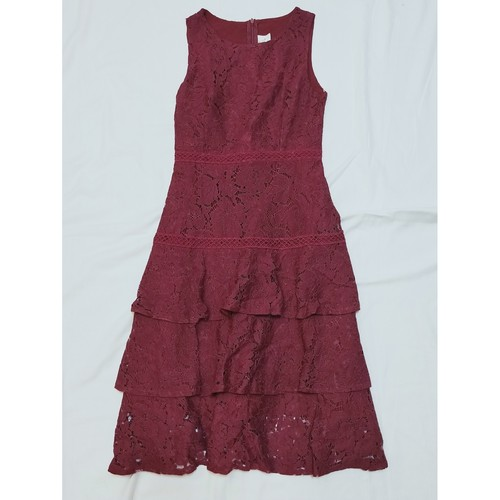 Lace dress *Maroon