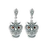 Owl earrings Sitting
