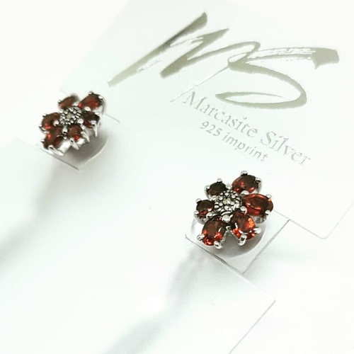 Florinda Duo Ear Rings *African Garnets