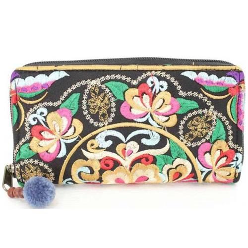 Oriental Gold Stitch Wallet