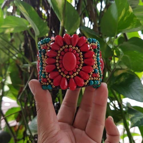 Bohemian Bangle Red