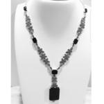 Flora Necklace Black Onyx