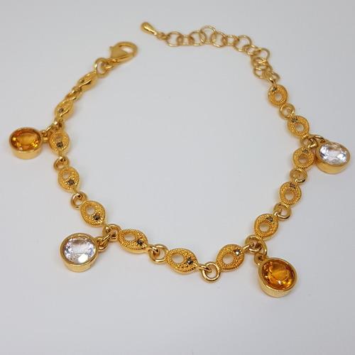 Citrine & Topaz Charmers *Bracelet