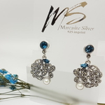 Garden London Blue Topaz & Pearls