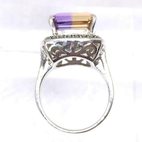 Victorian Charm *Ametrine Ring/ Silver