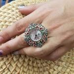 Ring watch Enamel