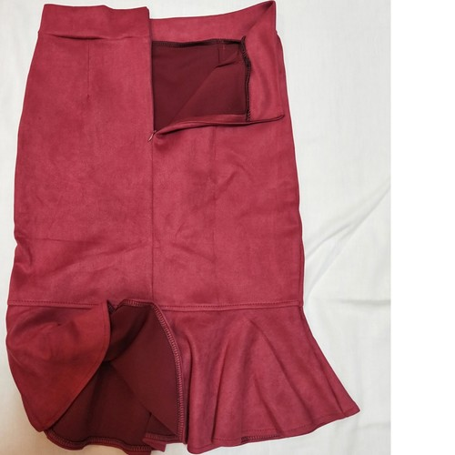 Suede Skirt *Red