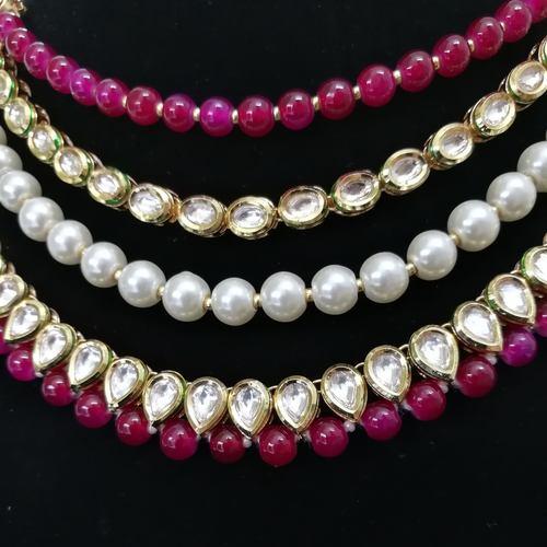 Kundan Meenakari Ruby Necklace Set