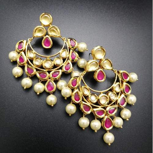 Ruby Red Kundan Danglers