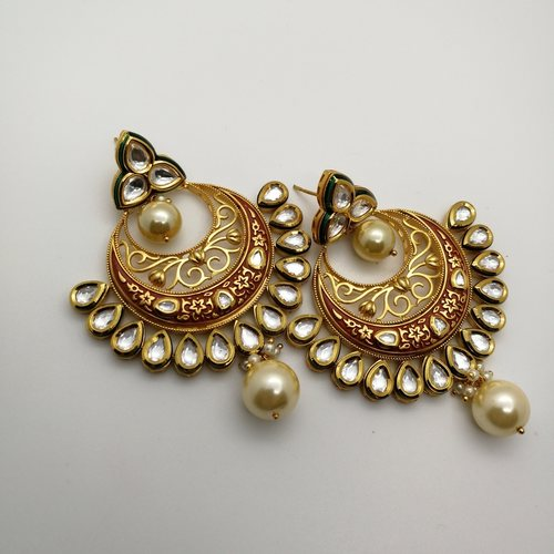 Heavily Embellished Chandbali Earrings
