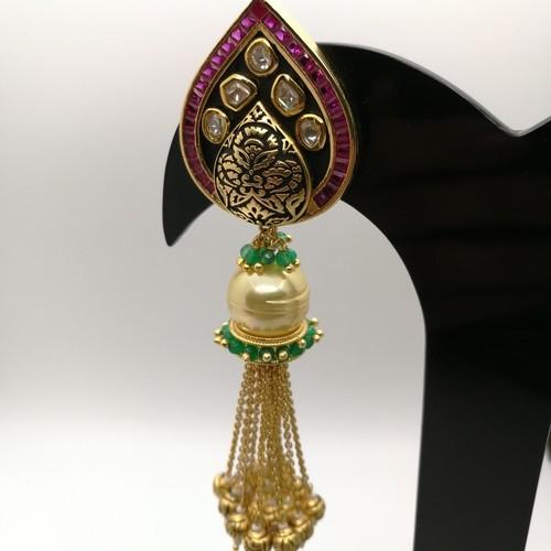 Tassel Kundan Earrings