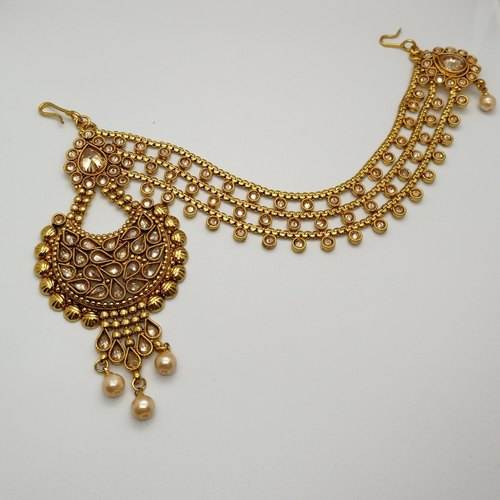 Gold Chand Maang Tika