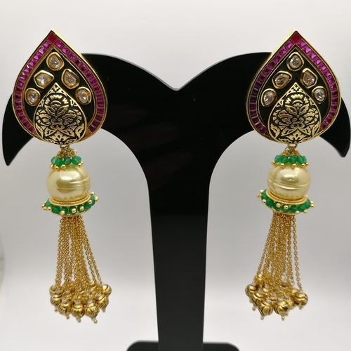 Tassel Kundan Earrings