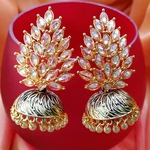 Polki Leaf Earrings Jhumki