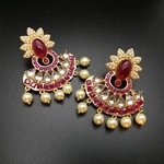 Ruby-Finish Stone Chandbalis