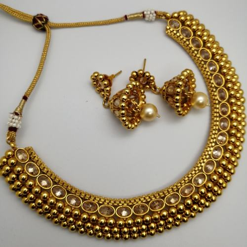 Golden Necklace With Jhumki