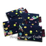 Exclusive Handmade CardCoins Case Rainbow Jellybeans Yellow Accents