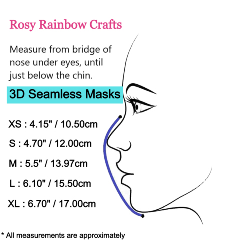 Exclusive Handmade 3D Seamless Masks Playtime Toys  S 4-7 years old