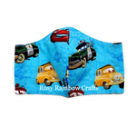 Exclusive Handmade 3D Original Masks Cars All Over Medium 7-12 years old