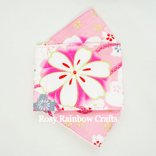 Exclusive Handmade 3D OrigamiBoat Masks Chinese Pink Florals Large PLUS WomenMen