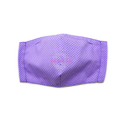 3D Seamless Mask Candy Purple Dots Medium (8-12 years old)