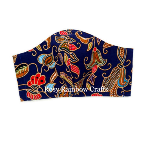 Exclusive Handmade Masks Inspired SQ Airlines Batik Navy Blue Men
