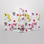 Exclusive Handmade 3D Original Masks Playful Unicorns in White Medium 7 - 12 years old