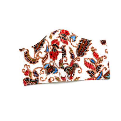 Exclusive Handmade Masks Inspired SQ Airlines Batik Pure White Men