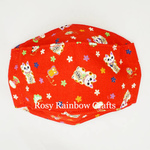 Exclusive Handmade 3D OrigamiBoat Masks Chinese Red Lucky Cat Small 4 - 6 years old