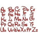 Embroidery Fonts For Customs Made To Order
