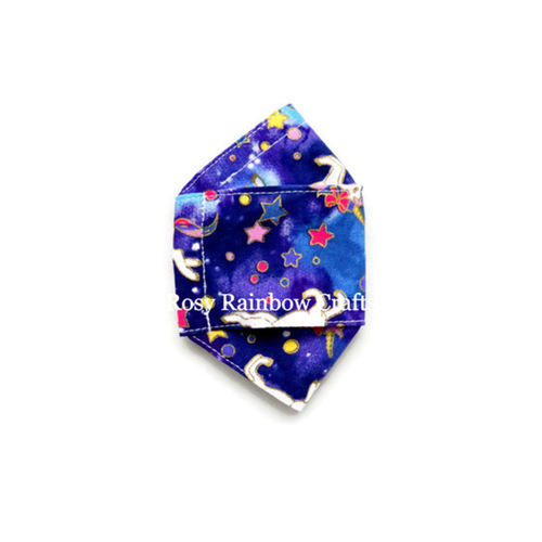Exclusive Handmade 3D OrigamiBoat Masks Midnight Unicorns S 4-6 years old