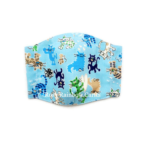 Exclusive Handmade 3D Seamless Masks Cats & Kitties S 4-7 years old