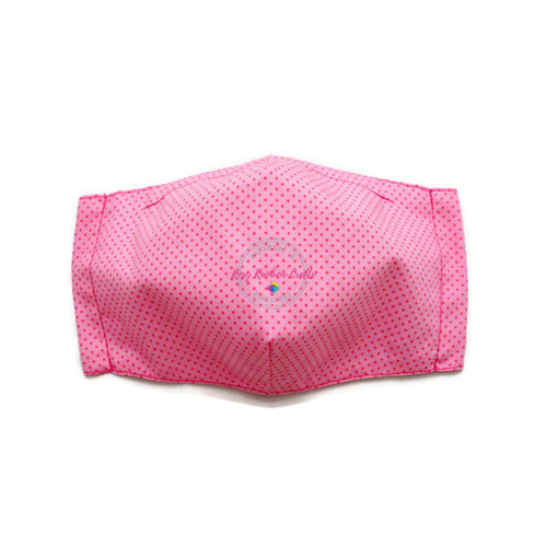 3D Seamless Mask Candy Pink Dots Small (4-7 years old)