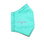 3D Seamless Mask Candy Turqouise Dots Large (Youth/Women/Adults)
