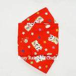 Exclusive Handmade 3D OrigamiBoat Masks Chinese Red Lucky Cat Medium PLUS 10 - 12 years old