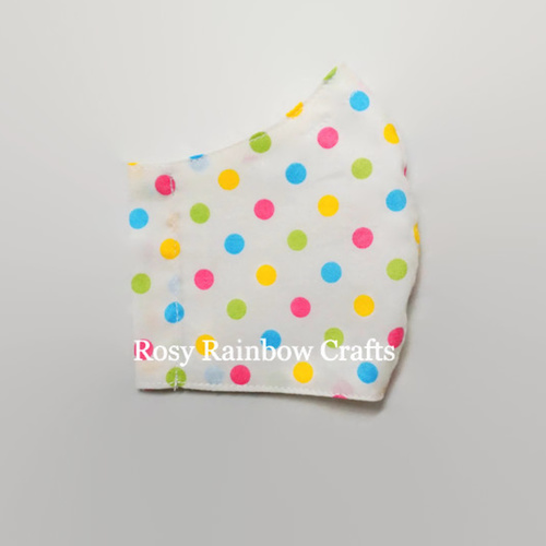 Exclusive Handmade 3D Original Multi Colours Polka Dots Small 4 - 6 years old