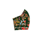 Exclusive Handmade Masks Inspired SQ Airlines Batik Army Green WomenTeenagers
