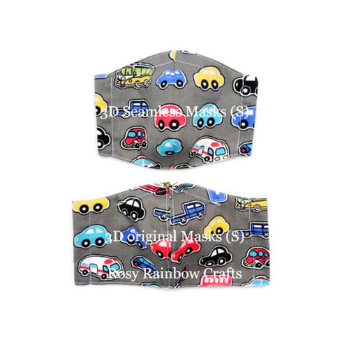 Exclusive Handmade 3D Original Masks On The Road Grey S 3-6 years old