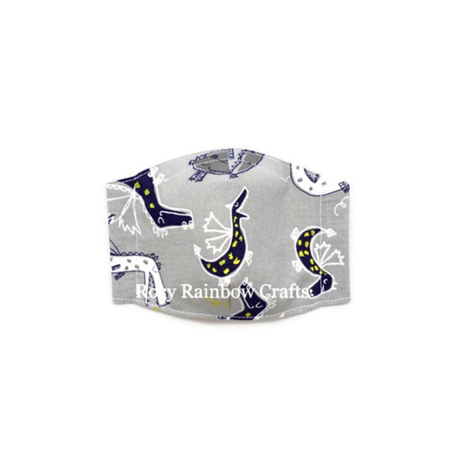 Exclusive Handmade 3D Seamless Masks Dino Friends  S 4-7 years old