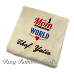 Exclusive Handmade Customs Made to Order Embroidered Adult Apron