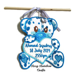 Exclusive Handmade Embroidered Customs Made To Order Baby Announcement Teddy Love Polka Dots Collections