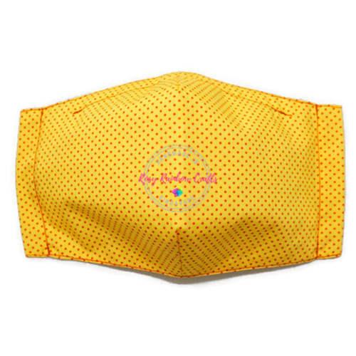 3D Seamless Mask Candy Yellow Dots Large (Youth/Women/Adults)
