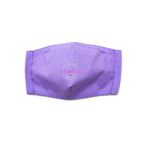 3D Seamless Mask Candy Purple Dots Small (4-7 years old)