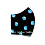 Exclusive Handmade 3D Original Masks Emoji With Masks Navy Blue Medium 7 - 12 years old