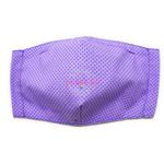 3D Seamless Mask Candy Purple Dots Large (Youth/Women/Adults)