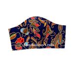 Exclusive Handmade Masks Inspired SQ Batik Navy Blue WomenTeenagers