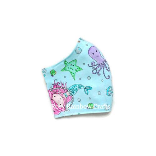 Exclusive Handmade Kids Mask Sparkly Mermaids 3-6 years old